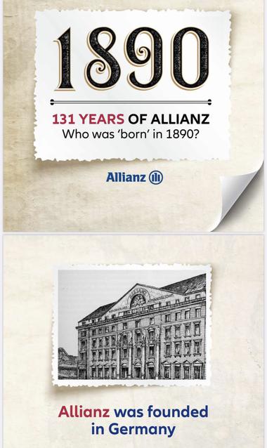 Allianz, compagnie d'assurance fondée en 1890